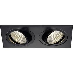 LED vestavné svítidlo SLV New Tria 113920, 12 W, teplá bílá, černá (matná)