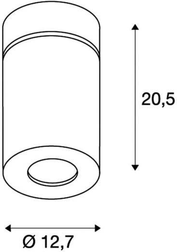 LED-Deckenleuchte 28 W Warm-Weiß SLV Supros 114130 Schwarz