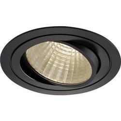 LED vestavné svítidlo SLV New Tria 1 Set 114270, 25 W, teplá bílá, černá (matná)