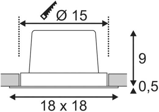 LED-Einbauleuchte 25 W Warm-Weiß SLV New Tria 1 Set 114280 Schwarz (matt)