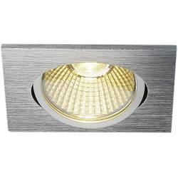 LED vestavné svítidlo SLV 114396, 9 W, teplá bílá, hliník (kartáčovaný)