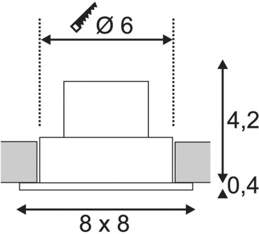 LED-Einbauleuchte 12 W Warm-Weiß SLV Patta-I 114430 Schwarz (matt)
