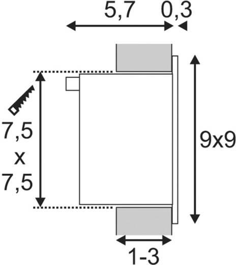 SLV Frame Basic 111260 LED-Einbauleuchte 1 W Neutral-Weiß