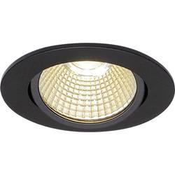 LED vestavné svítidlo SLV 114380, 9 W, teplá bílá, černá (matná)