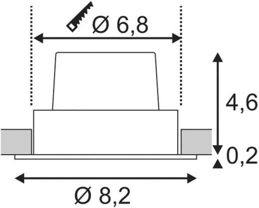 SLV 114381 LED-Einbauleuchte 9 W Warm-Weiß Weiß (matt)