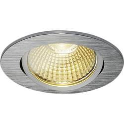 LED vestavné svítidlo SLV 114386, 9 W, teplá bílá, hliník (kartáčovaný)