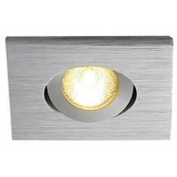 LED vestavné svítidlo SLV New Tria Mini 114416, 2.2 W, teplá bílá, hliník (kartáčovaný)