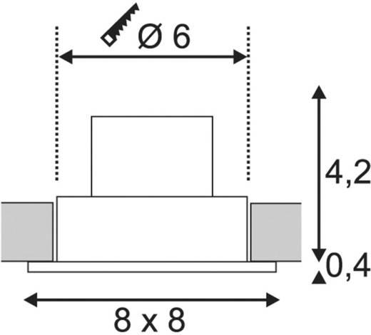 LED-Einbauleuchte 12 W Warm-Weiß SLV Patta-I 114431 Weiß (matt)