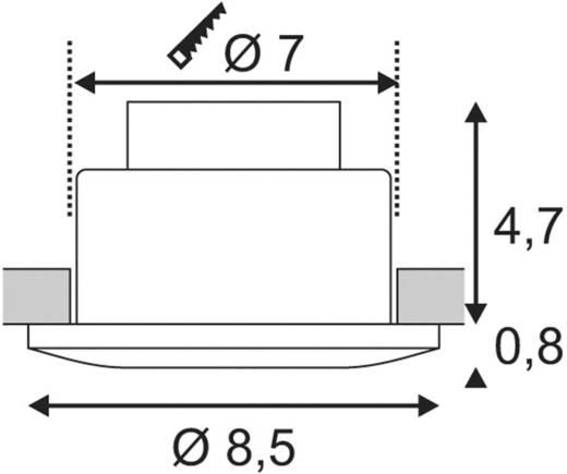 LED-Einbauleuchte 9 W Warm-Weiß SLV Out 65 114464 Silbergrau