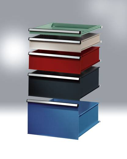Blockschubfach mit Lochboden 200 RAL6011 resedagrün