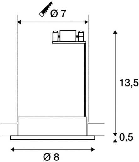 Außeneinbauleuchte GX5.3 Halogen 35 W SLV Dolix Out 111002 Chrom