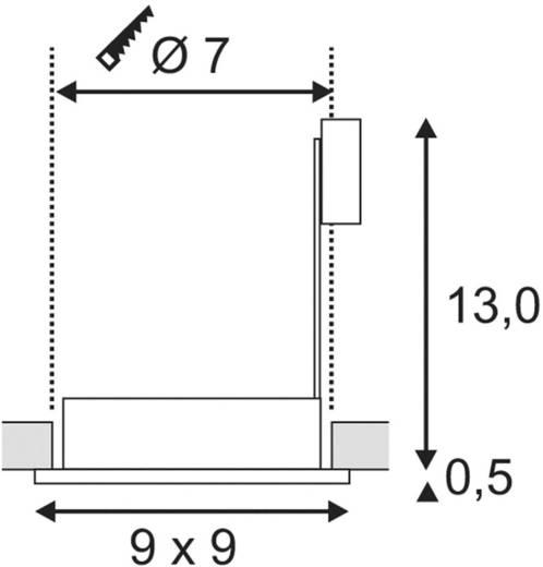 Außeneinbauleuchte GU10 Halogen 35 W SLV Dolix Out 111142 Chrom