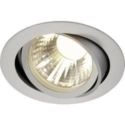 LED vestavné svítidlo SLV New Tria Disk 113584, 12 W, teplá bílá, stříbrnošedá