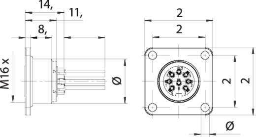 M16 Flanschdose 8 polig 09 0174 320 08 Binder 1 St.