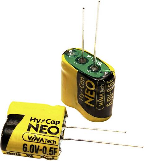 Super-Cap Kondensator 1.5 F 6 V (Ø x H) 8.5 mm x 17 mm VINATech WEC6R0155QGI 1 St.