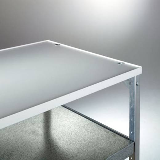 Etagenboden Melamin Traglast (max.): 40 kg Licht-Grau Manuflex TV0315