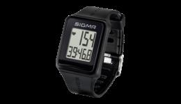Sigma ID.GO verzichtet auf GPS und zeigt nur Puls, Herzfrequenzzonen, Trainingszeit sowie Uhrzeit und Datum an. Zusätzlich gibt es eine Stoppuhr.