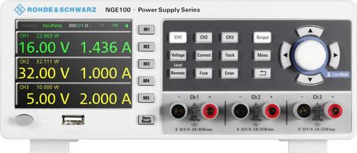 Rohde & Schwarz NGE102 Labornetzgerät, einstellbar 0 - 32 V/DC 0 - 3 A 66 W USB OVP, fernsteuerbar Anzahl Ausgänge 2 x
