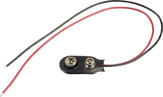TRU COMPONENTS I-PVC-20 Batterieclip 1 9 V Block Druckknopfanschluss