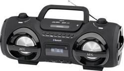 FM CD rádio AEG SR 4359 BT, černá, červená