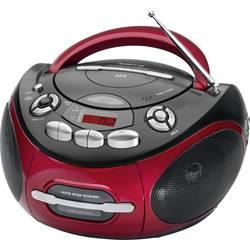 FM kazetové rádio AEG SR 4353, černá, červená