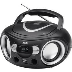 FM rádio s CD prehrávačom AEG SR 4374, čierna