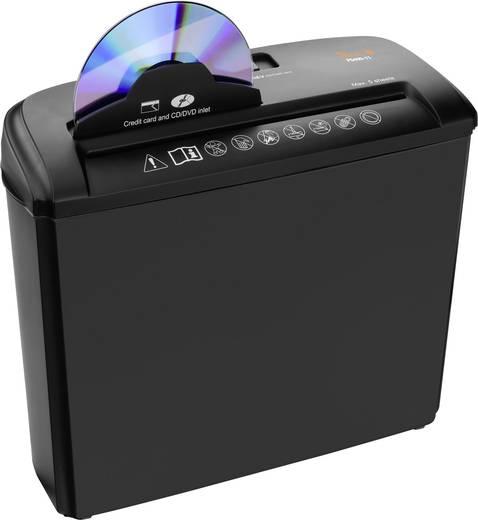 Aktenvernichter Peach PS400-11 Streifenschnitt 6 mm 7 l Blattanzahl (max.): 5 Sicherheitsstufe 1 Vernichtet auch CDs, DV