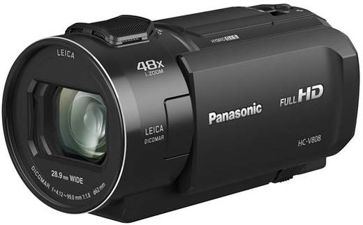 panasonic hc v808eg k camcorder 7 6 cm 3 zoll 8 5 mio pixel opt zoom 24 x schwarz kaufen. Black Bedroom Furniture Sets. Home Design Ideas