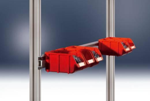 Manuflex ZB8253.7035 Boxenträgerschiene2000(1996mm)ALUTisch RAL7035 lichtgrau