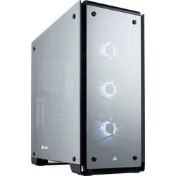 PC skrinka midi tower Corsair Crystal 570X RGB Mirror Black Tempered Glass, čierna