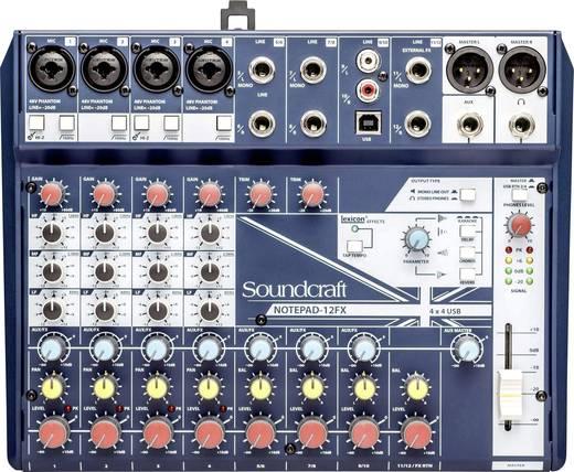 Konsolen-Mischpult SoundCraft Notepad 12FX Anzahl Kanäle:12 USB-Anschluss