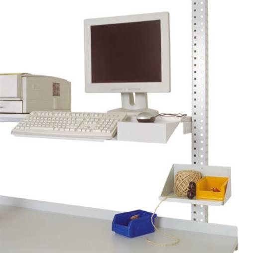 Manuflex ZB3550.7035 Tastaturträger mit Mousefläche zur Befestigung an Ablage-Konsole und Gerätebrücke RAL7035 lichtgrau