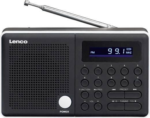 UKW Kofferradio Lenco MPR-034 SD, USB, UKW wiederaufladbar Schwarz, Weiß