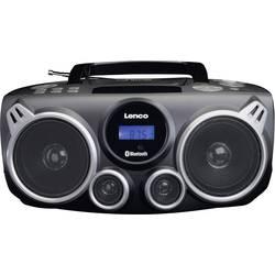 FM rádio s CD prehrávačom Lenco SCD-100, AUX, Bluetooth, CD, SD, UKW, USB, čierna