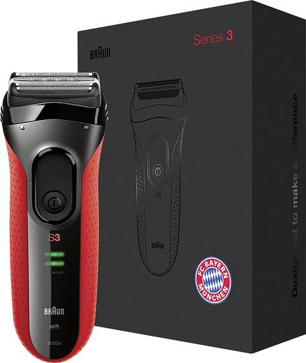 Folienrasierer Braun Series 3 ProSkin 3030s FC Bayern Edition Schwarz/Rot