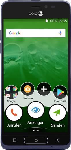 doro 8035 Senioren-Smartphone SOS Taste Dunkelblau