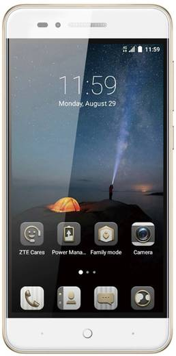 ZTE BLADE A612 Smartphone Dual-SIM 16 GB 12.7 cm (5 Zoll) 13 Mio. Pixel Android™ 7.0 Nougat Gold