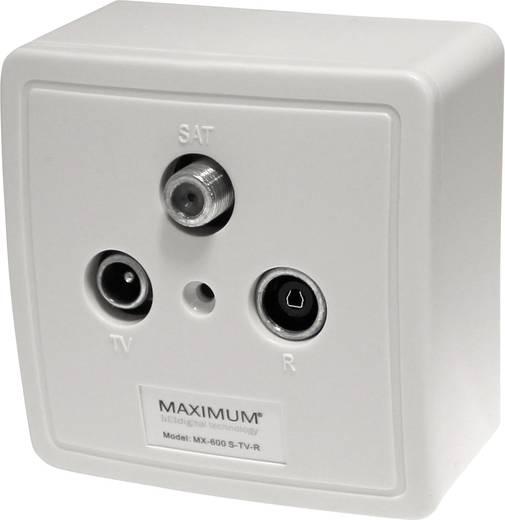 Maximum 1208 Antennendosen-Set SAT, TV, UKW Aufputz