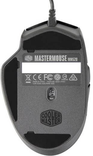 Cooler Master MasterMouse MM520 USB-Maus Optisch Beleuchtet, Integrierter Profilspeicher Schwarz