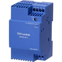 Sieťový zdroj na montážnu lištu (DIN lištu) TDK-Lambda DRL-60-12-1, 12 V, 4.5 A, 54 W