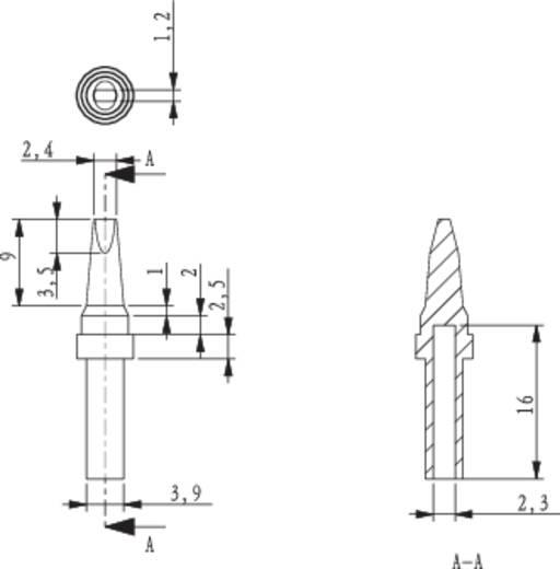 Lötspitze Meißelform TOOLCRAFT HF-2,4MF Spitzen-Größe 2.4 mm Spitzen-Länge 17 mm Inhalt 1 St.