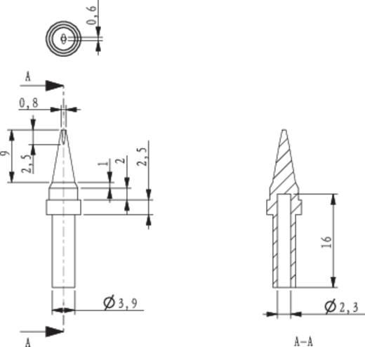 Lötspitze Meißelform TOOLCRAFT HF-0,8MF Spitzen-Größe 0.8 mm Spitzen-Länge 17 mm Inhalt 1 St.
