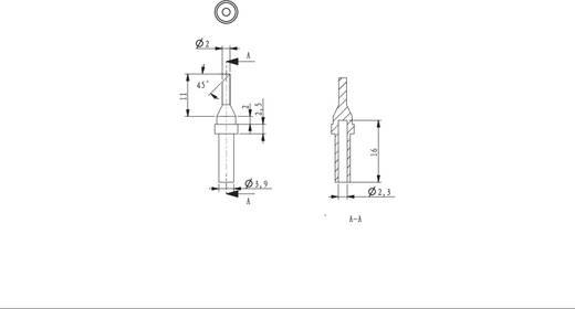 Lötspitze abgeschrägt 45° TOOLCRAFT HF-2,0-45 Spitzen-Größe 2 mm Spitzen-Länge 17 mm Inhalt 1 St.