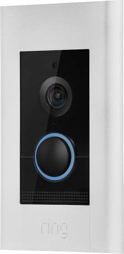 LAN, Wi-Fi domovní IP/video telefon ring 8VR1E7-0EU0 4574672, niklová (satinovaná), perlově bílá, černá