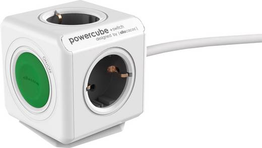 Allocacoc Steckdosenwürfel Power Cube Extended Switch 1.5 m Grau H05VV-F 3G 1,5 mm²