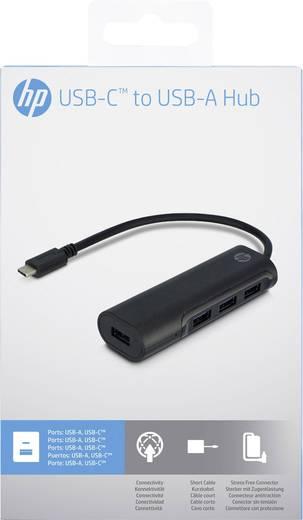 4 Port USB 3.0-Hub mit USB-C Stecker HP 2UX23AA#ABB Schwarz