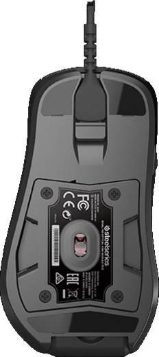 USB-Gaming-Maus Optisch Steelseries Rival 700 Display, Beleuchtet, Ergonomisch Schwarz