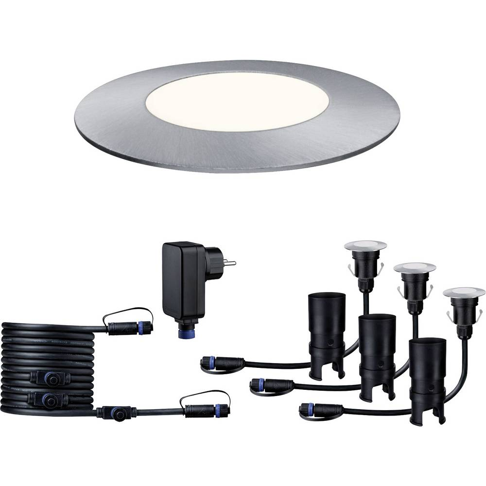 Plug shine solar lighting led outdoor recessed lights basic set plug shine solar lighting led outdoor recessed lights basic set 3 piece mozeypictures Images