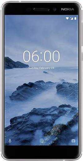 Nokia 6 (2018) Dual-SIM LTE-Smartphone 14 cm (5.5 Zoll) 2.2 GHz Octa Core 32 GB 16 Mio. Pixel Android™ 8.0 Oreo Weiß