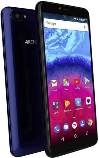 Archos CORE 57S Smartphone Hybrid-Slot 16 GB 14.5 cm (5.72 Zoll) 8 Mio. Pixel Android™ 7.0 Nougat Schwarz/Blau